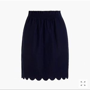 NWT J Crew Factory navy sidewalk skirt size 10